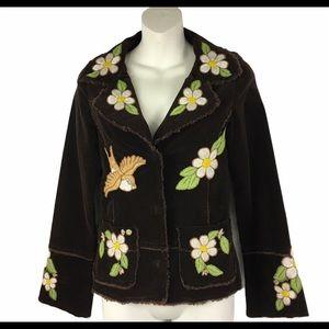 Joystick Johnny Was Boho Embroidered Jacket Size S